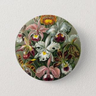 Vintage Orchids Illustration 6 Cm Round Badge
