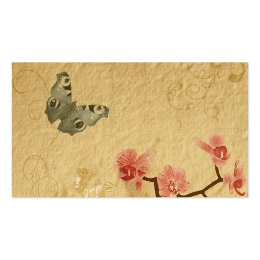 Vintage orchids Profile Card Business Card Template