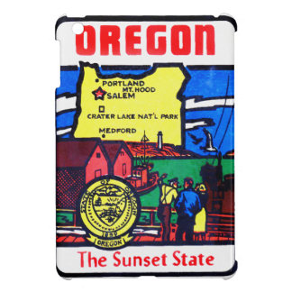 Vintage Oregon 60s Decal Art Sunshine State Cover For The iPad Mini