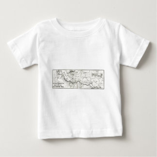 Vintage Oregon Trail Historical Map Baby T-Shirt