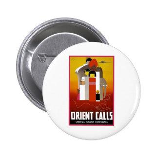 Vintage Orient Calls Buttons