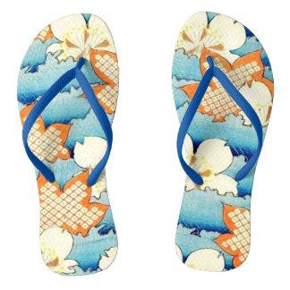 Vintage Oriental Design Flip-Flops Thongs