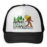 Vintage Original Gone Squatchin Design Hat Mesh Hats