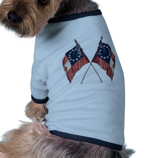 Vintage Original Illustrated American Flag Doggie Shirt
