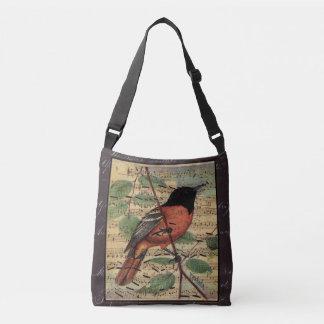 Vintage Oriole On  Music Crossbody Bag