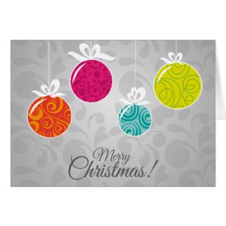 Vintage Ornaments & Merry Christmas-Greeting Card