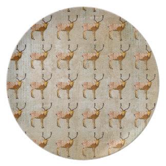 Vintage Ornate Buck Pattern Plate
