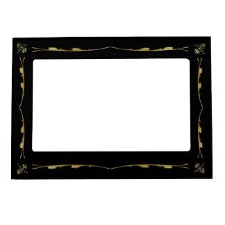 Vintage Ornate Goth with Gold Trim Frame Magnet