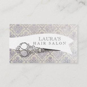 Vintage scissors business cards zazzle au vintage ornate scissors hair salon business cards reheart Image collections