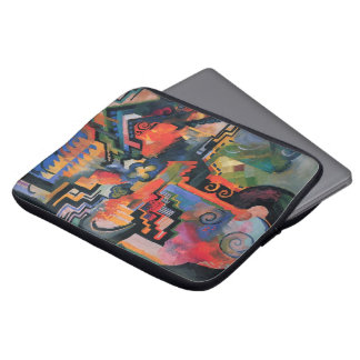 Vintage Orphism, Colored Composition, August Macke Laptop Sleeve