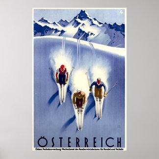 Vintage Österreich Ski Poster