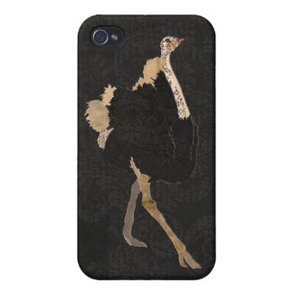 Vintage Ostrich Black iPhone Case iPhone 4/4S Covers