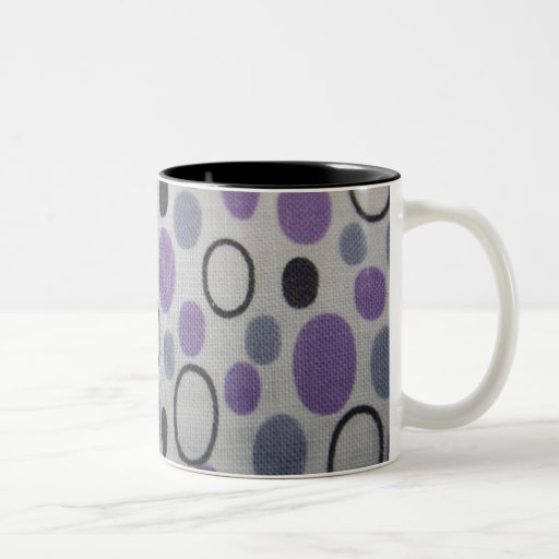 Vintage Oval Shapes Fabric Mug