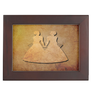 Vintage Overlay Keepsake Box for Lesbian Brides