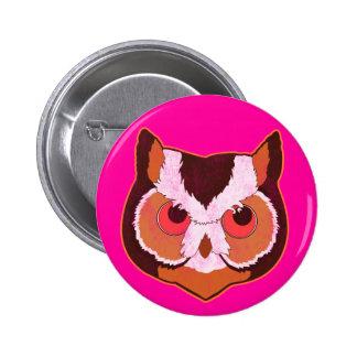 Vintage Owl 6 Cm Round Badge