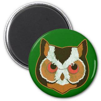 Vintage Owl 6 Cm Round Magnet