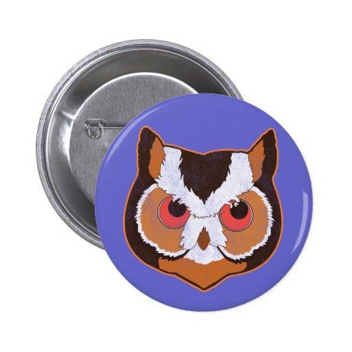 Vintage Owl Pinback Buttons