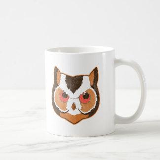 Vintage Owl Basic White Mug