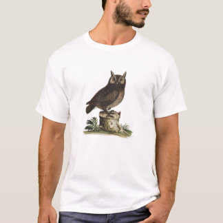 Vintage Owl Drawing T-Shirt