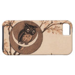 Vintage Owl in Moon iPhone 5 Covers