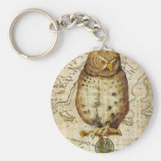 Vintage owl key ring