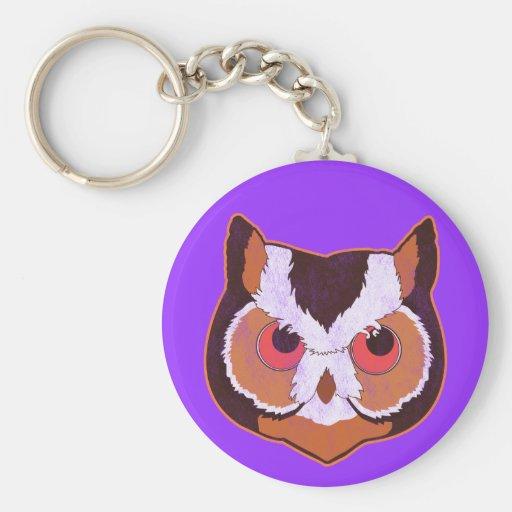 Vintage Owl Keychain
