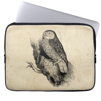 Vintage Owl Laptop Sleeve