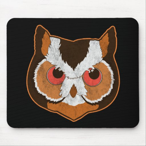 Vintage Owl Mouse Pads