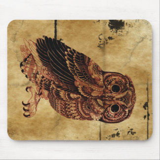 Vintage Owl Mouse Pad