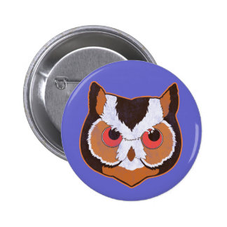 Vintage Owl Pinback Buttons