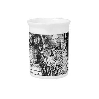Vintage owl pitcher
