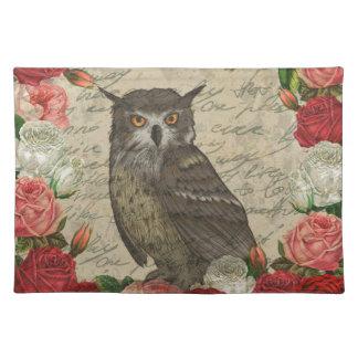 Vintage owl placemat