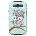 Vintage Owl Samsung Galaxy 3 Phone Case