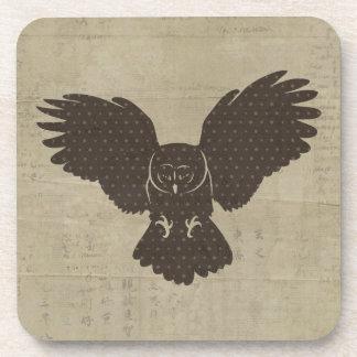 Vintage Owl Silhouette Coaster