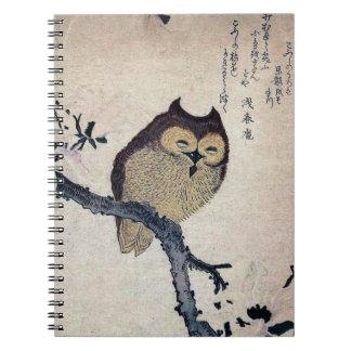 Vintage Owl Spiral Notebook