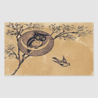 Vintage Owl Sticker