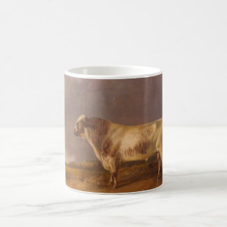 Vintage painting of a Shorthorn Bull Coffee Mug