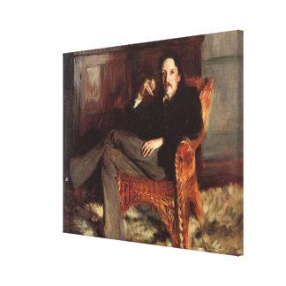 Vintage Painting of Robert Louis Stevenson (1887) Canvas Print