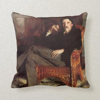 Vintage Painting of Robert Louis Stevenson (1887) Cushion