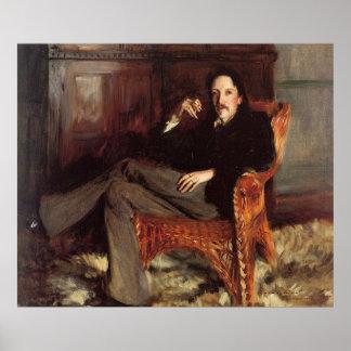 Vintage Painting of Robert Louis Stevenson (1887) Poster