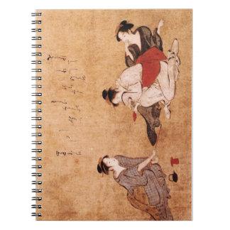 "Vintage Painting ""Three Drunken Women"" Notebook"