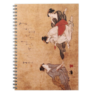 "Vintage Painting ""Three Drunken Women"" Spiral Notebook"