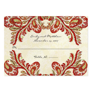 Vintage Paisley Damask Table Place Cards Business Card Templates