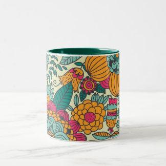 Vintage Paisley Flowers Coffee Mugs