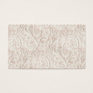 Vintage Pale Pink Lace Business Card