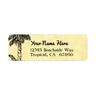 Vintage Palm Tree Custom Return Address Label