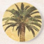 Vintage Palm Tree - Tropical Customised Template Drink Coaster