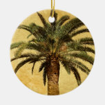 Vintage Palm Tree - Tropical Customised Template Christmas Ornament