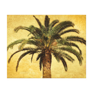 Vintage Palm Tree - Tropical Customized Template Canvas Print