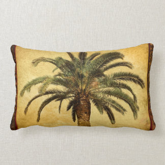 Vintage Palm Tree - Tropical Customized Template Lumbar Cushion